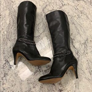 Vince Cumuto Leather Tall Shaft Boots